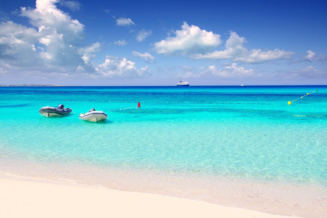 Playa De Ses Illetes, Formentera, Balearena