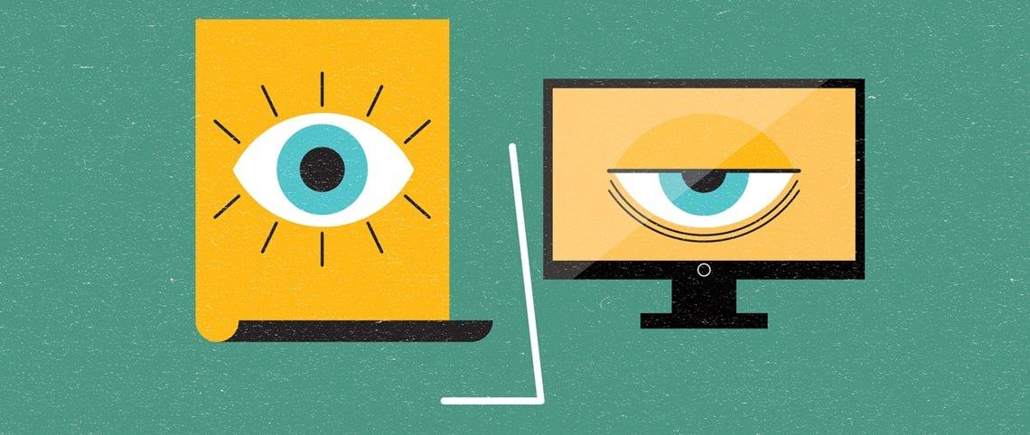 Databriller avlaster øynene foran skjerm
